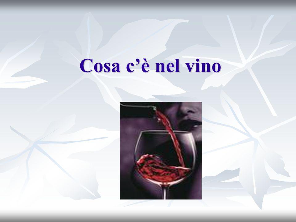 Cosa cè nel vino
