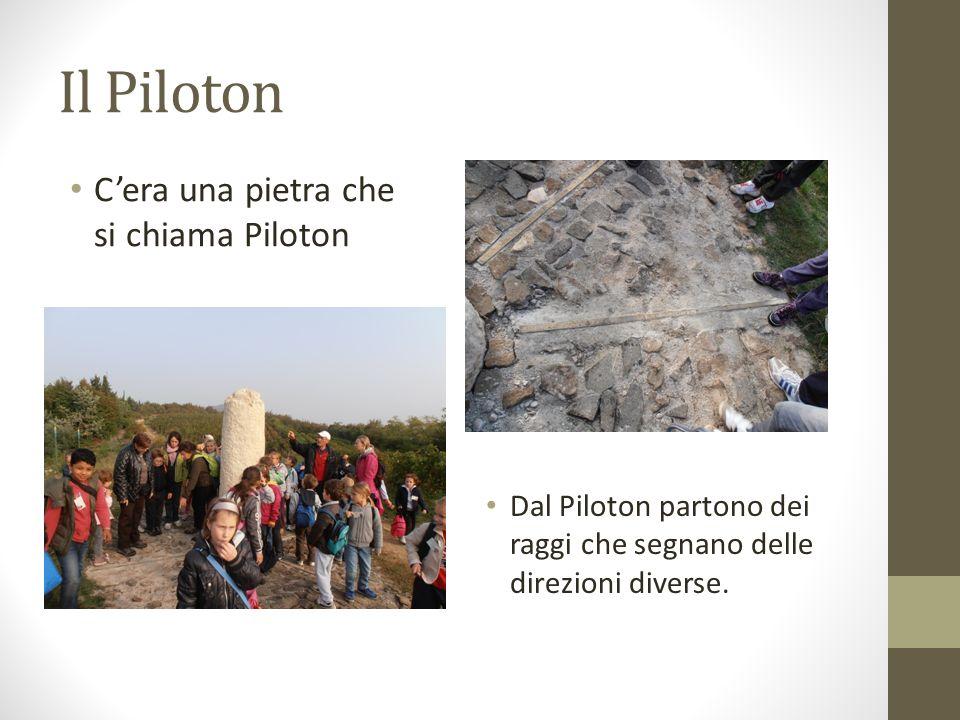 Il Piloton Cera una pietra che si chiama Piloton Dal Piloton partono dei raggi che segnano delle direzioni diverse.