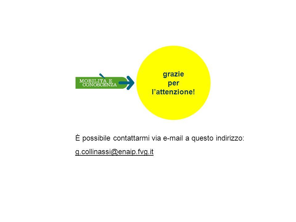 grazie per lattenzione! È possibile contattarmi via e-mail a questo indirizzo: g.collinassi@enaip.fvg.it
