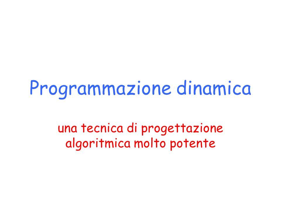 Programmazione dinamica una tecnica di progettazione algoritmica molto potente