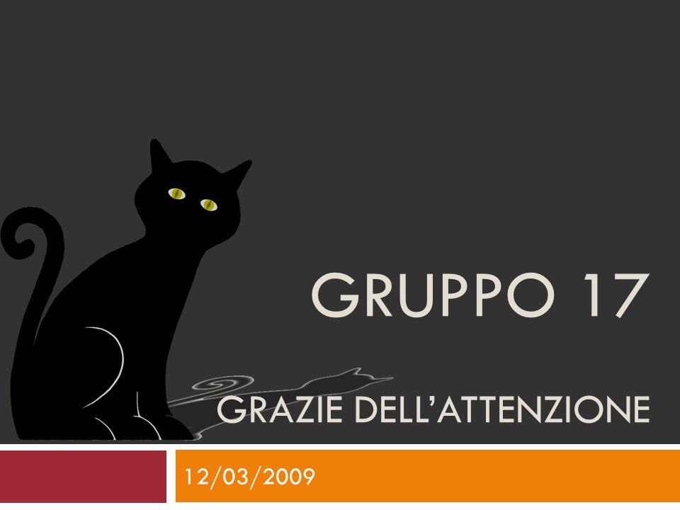 GRUPPO 17 GRAZIE DELLATTENZIONE 12/03/2009