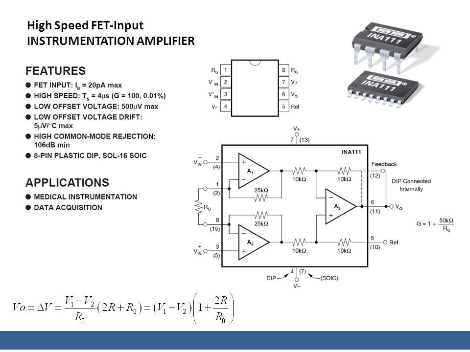 High Speed FET-Input INSTRUMENTATION AMPLIFIER