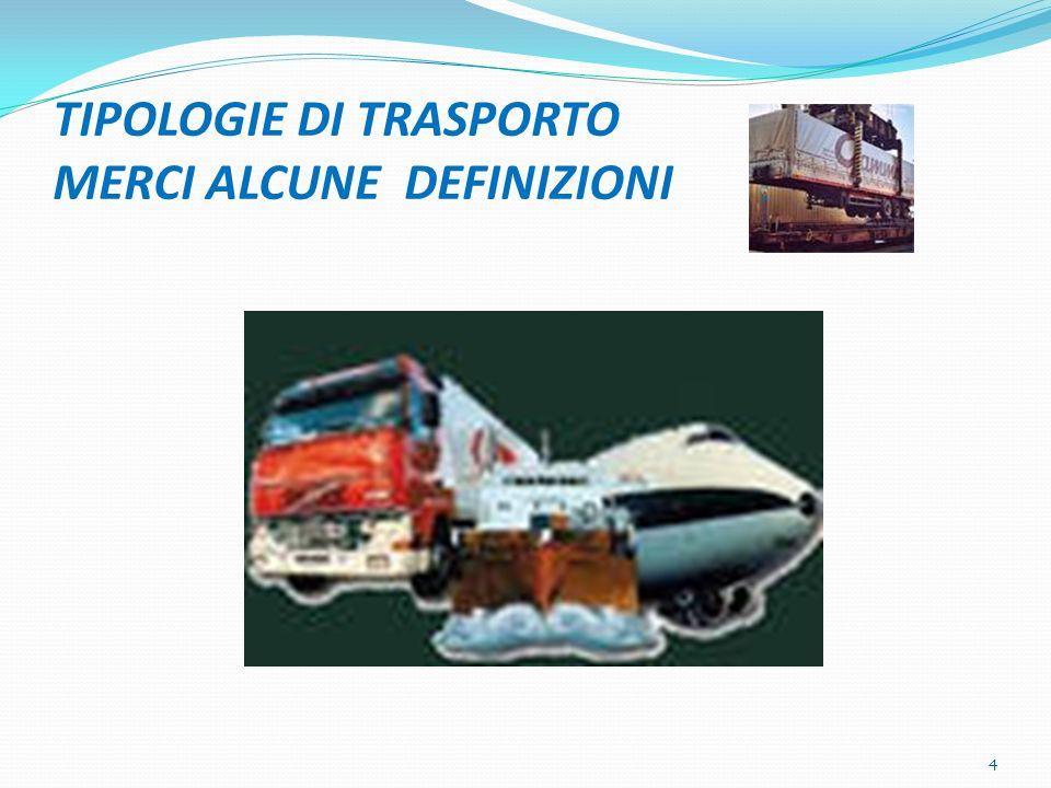 TIPOLOGIE DI TRASPORTO MERCI ALCUNE DEFINIZIONI 4