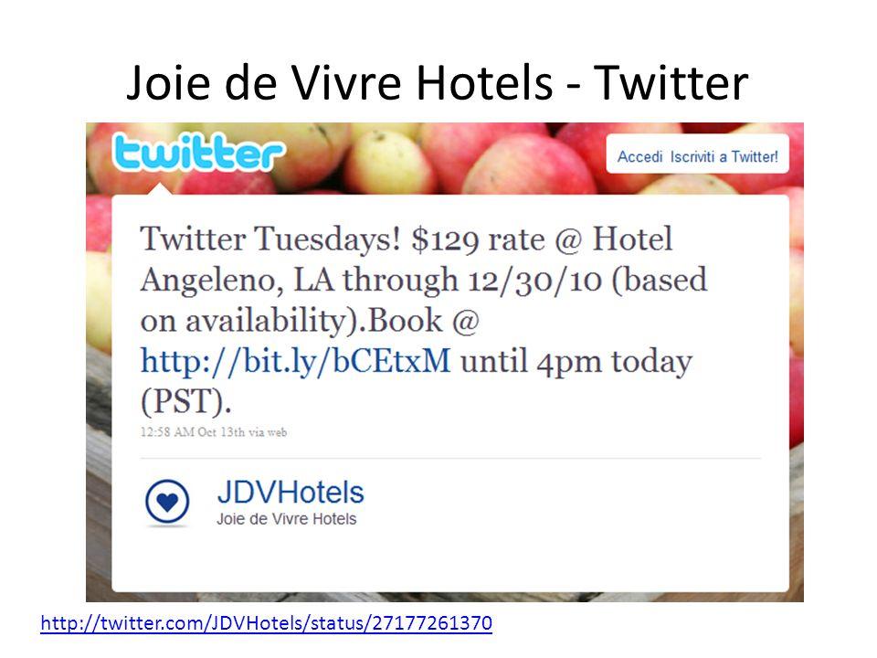 Joie de Vivre Hotels - Twitter http://twitter.com/JDVHotels/status/27177261370