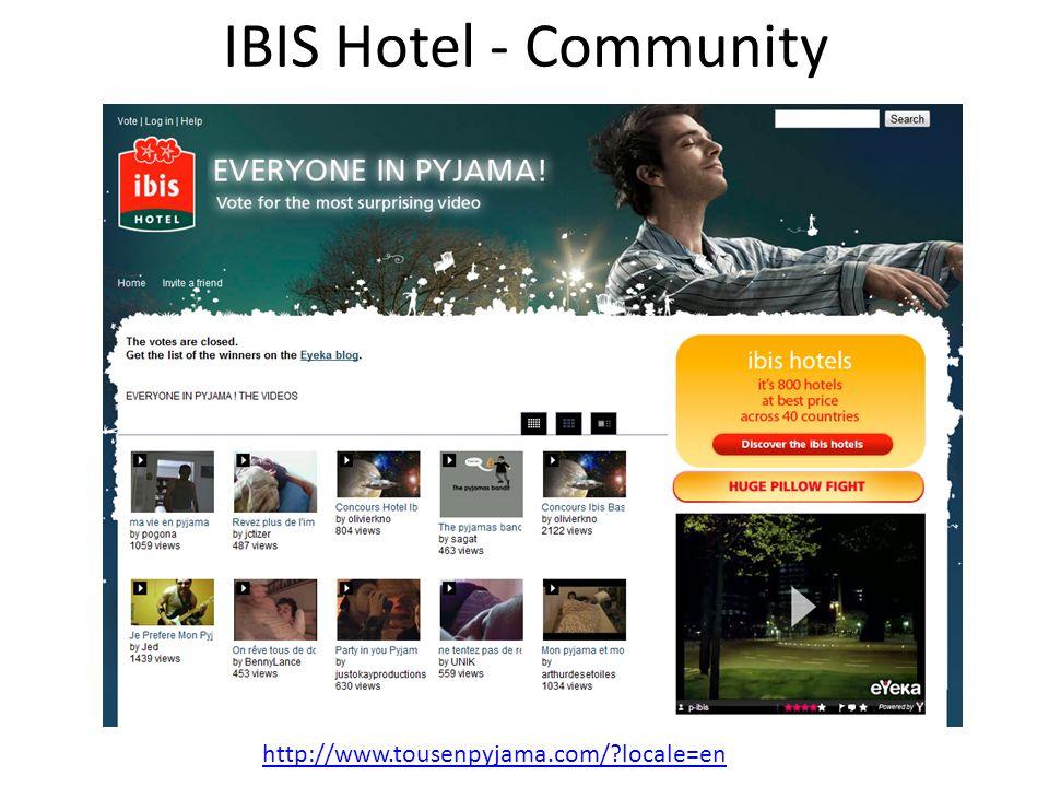 IBIS Hotel - Community http://www.tousenpyjama.com/?locale=en