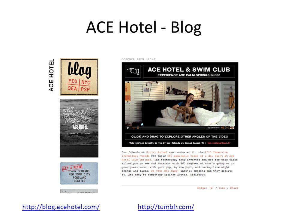 ACE Hotel - Blog http://blog.acehotel.com/http://tumblr.com/