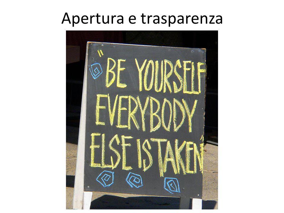 Apertura e trasparenza