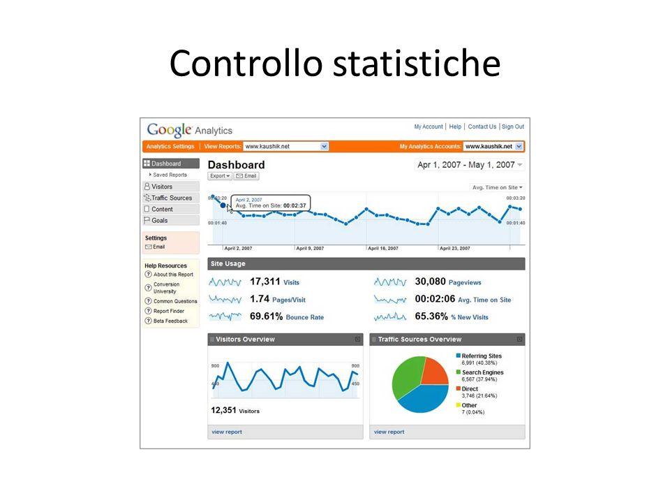 Controllo statistiche