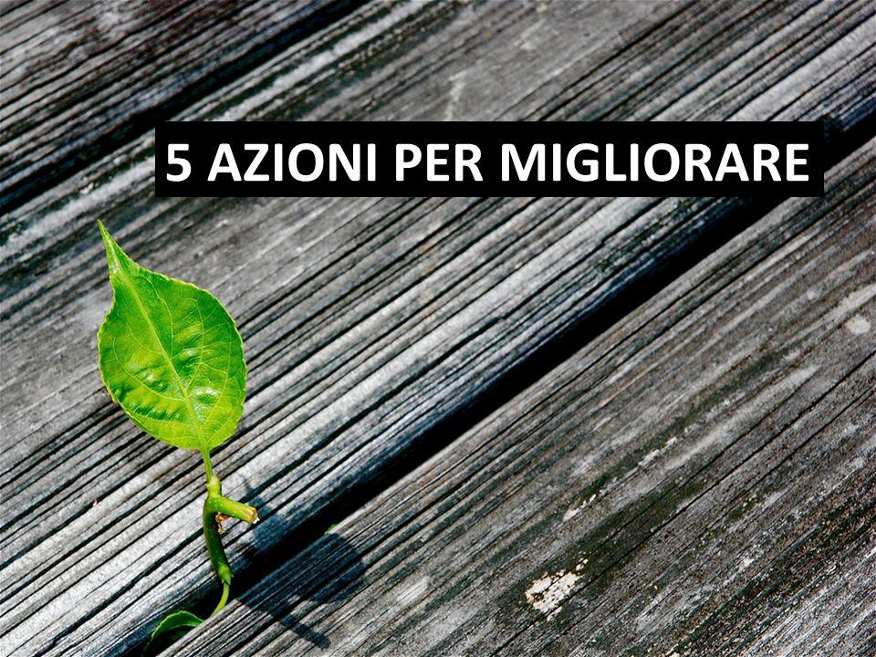 5 AZIONI PER MIGLIORARE