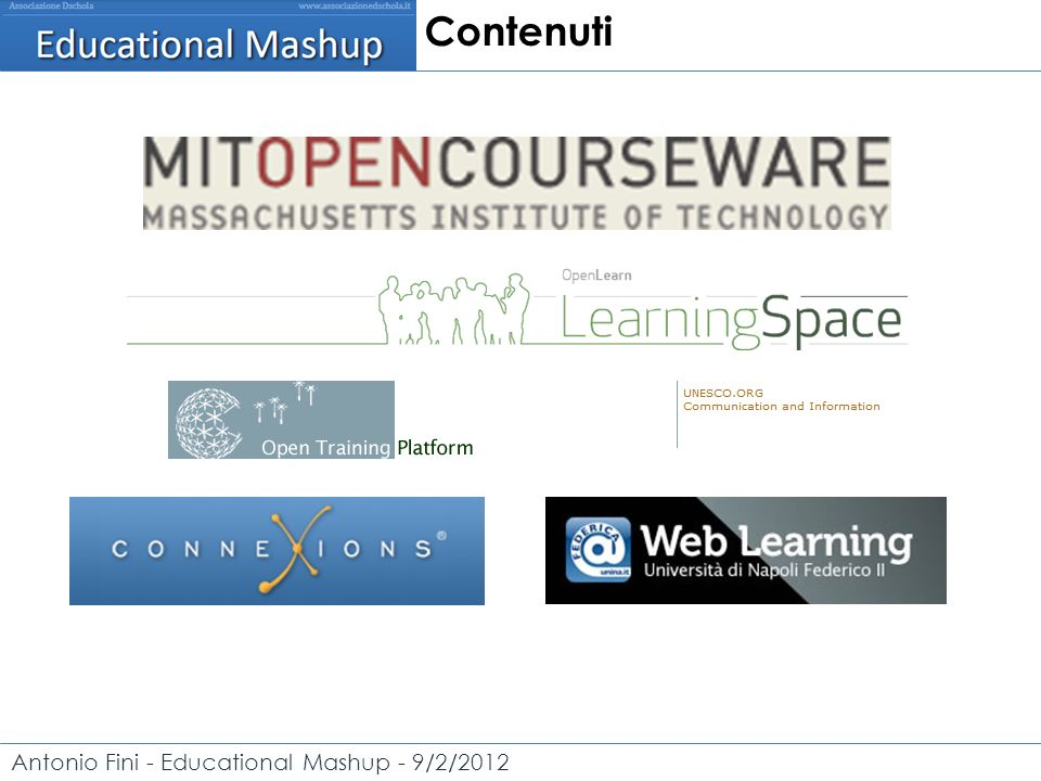 Antonio Fini - Educational Mashup - 9/2/2012 Open Courses