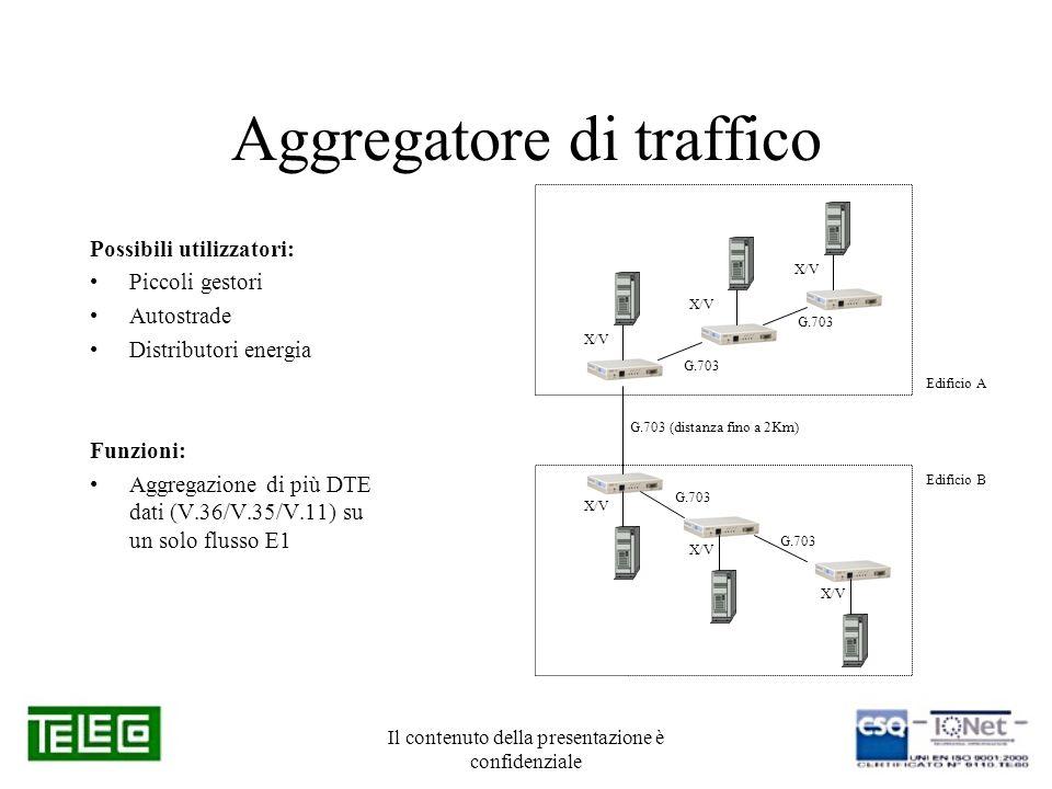 Il contenuto della presentazione è confidenziale Aggregatore di traffico Possibili utilizzatori: Piccoli gestori Autostrade Distributori energia Funzi