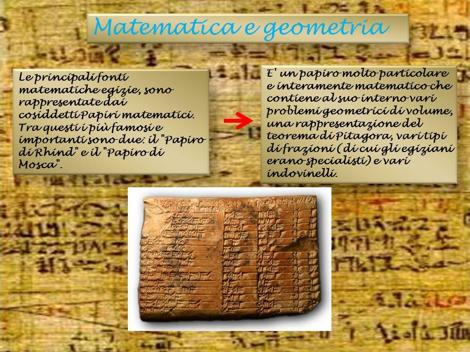 E' un papiro molto particolare e interamente matematico che contiene al suo interno vari problemi geometrici di volume, una rappresentazione del teore
