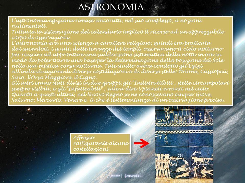 L'astronomia egiziana rimase ancorata, nel suo complesso, a nozioni rudimentali. Tuttavia la sistemazione del calendario implicò il ricorso ad un appr