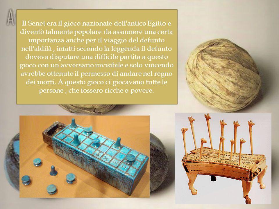 Il Senet era il gioco nazionale dell'antico Egitto e diventò talmente popolare da assumere una certa importanza anche per il viaggio del defunto nell'