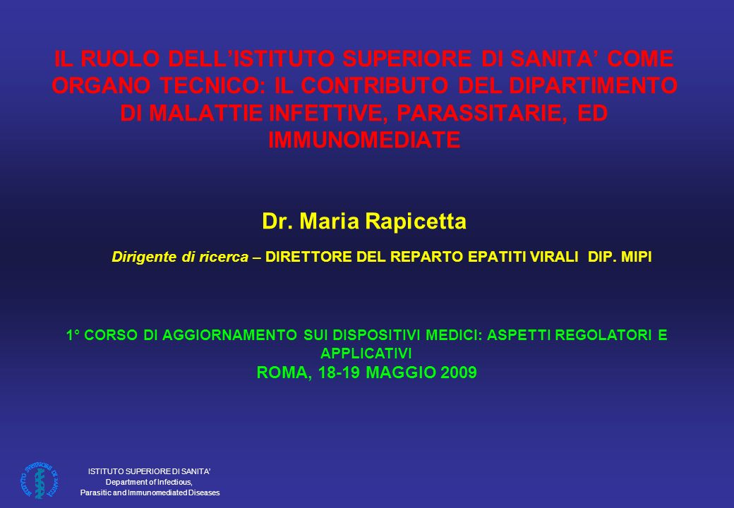 ISTITUTO SUPERIORE DI SANITA Department of Infectious, Parasitic and Immunomediated Diseases SUMMARY RESULTS OF THE SERO-CONVERSION STUDY HIV 1/2 Ag/Ab TEST KIT Test kit