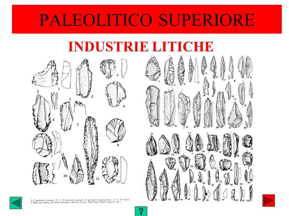 PALEOLITICO SUPERIORE INDUSTRIE LITICHE