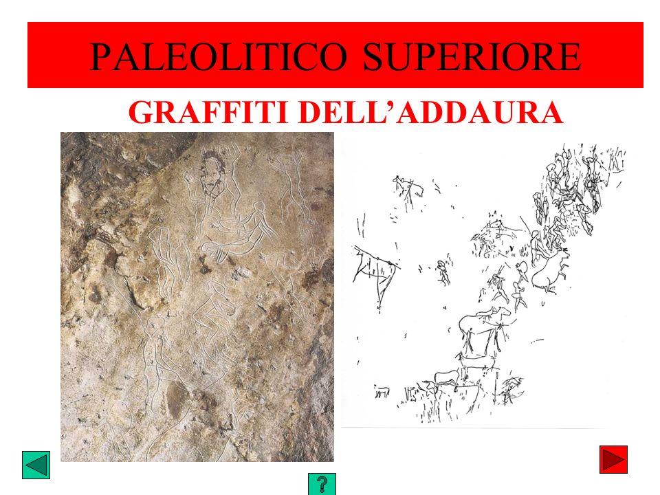 PALEOLITICO SUPERIORE GRAFFITI DELLADDAURA