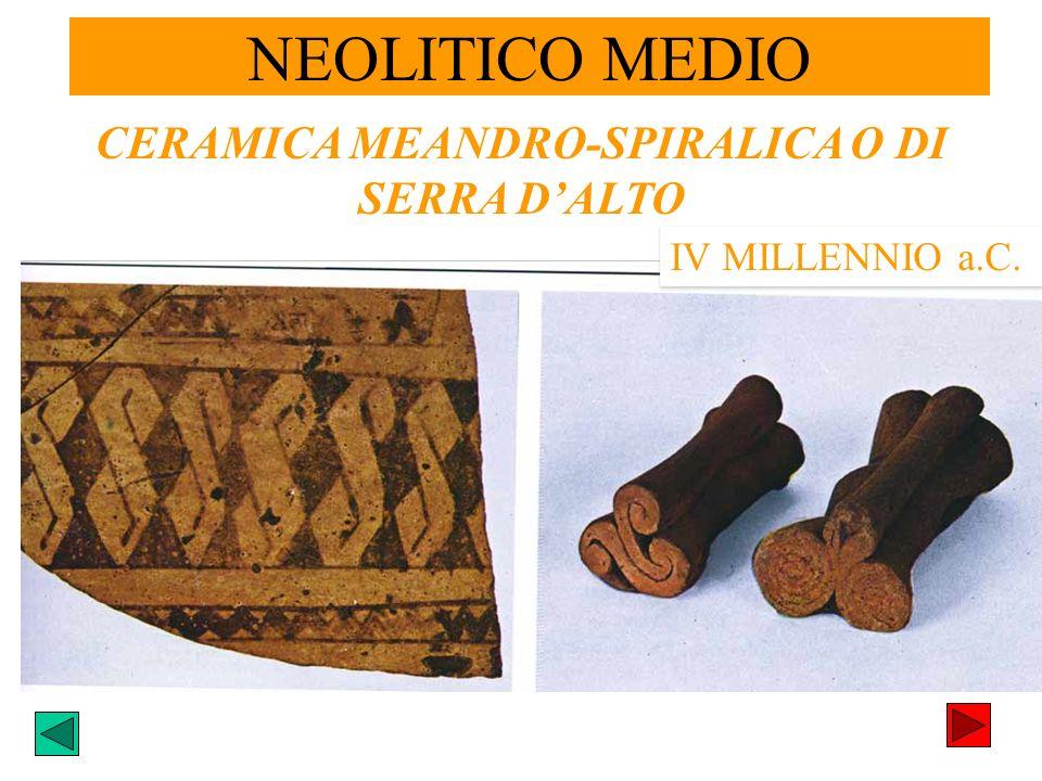 CERAMICA MEANDRO-SPIRALICA O DI SERRA DALTO IV MILLENNIO a.C. NEOLITICO MEDIO