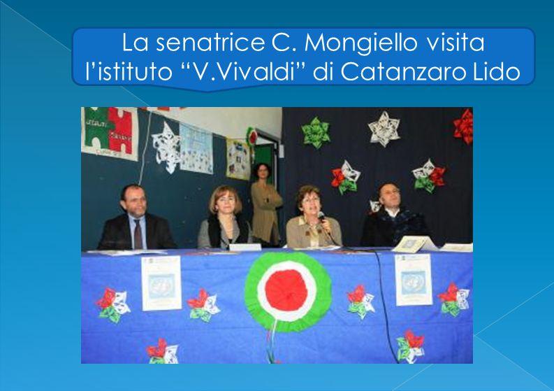 La senatrice C. Mongiello visita listituto V.Vivaldi di Catanzaro Lido