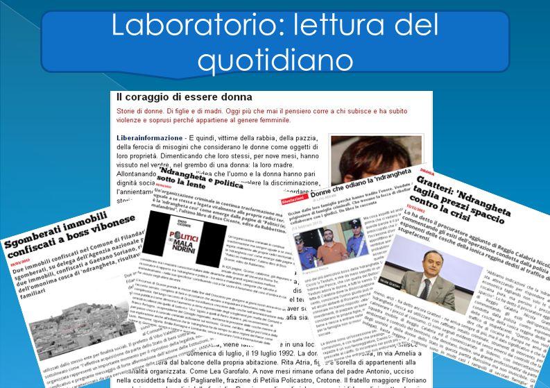 Laboratorio: lettura del quotidiano