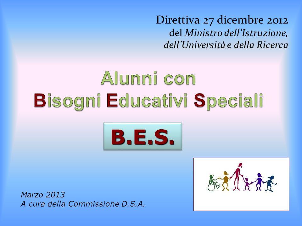 Direttiva 27 dicembre 2012 del Ministro dellIstruzione, dellUniversità e della Ricerca B.E.S.B.E.S.