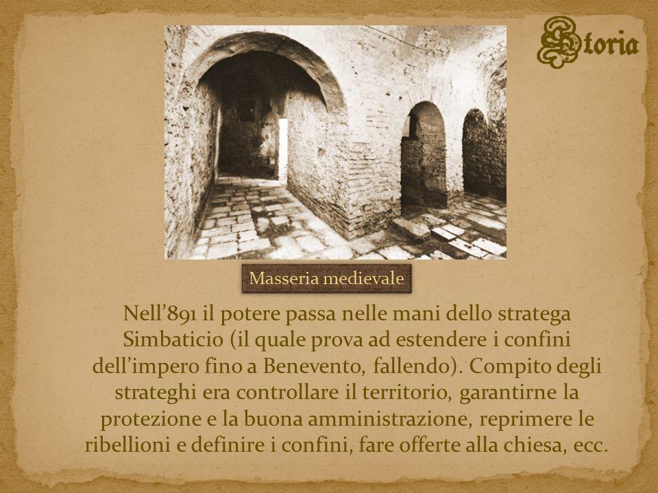 Nell891 il potere passa nelle mani dello stratega Simbaticio (il quale prova ad estendere i confini dellimpero fino a Benevento, fallendo). Compito de