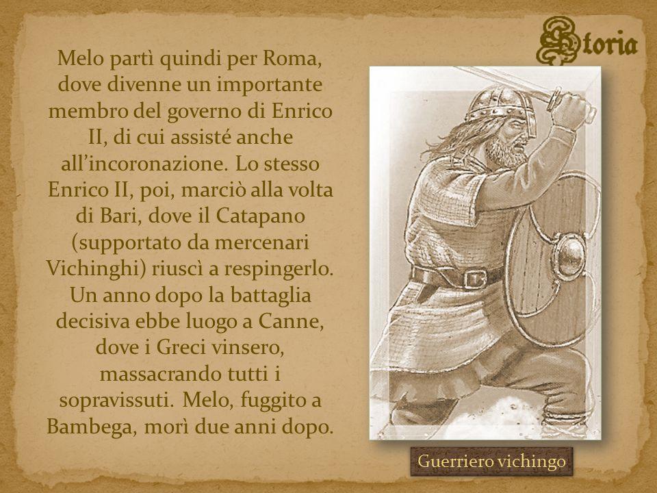 Melo partì quindi per Roma, dove divenne un importante membro del governo di Enrico II, di cui assisté anche allincoronazione. Lo stesso Enrico II, po