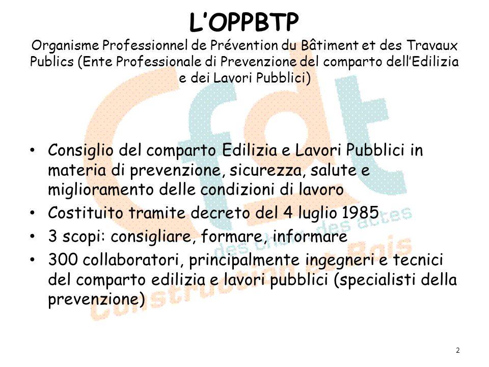 LOPPBTP Organisme Professionnel de Prévention du Bâtiment et des Travaux Publics (Ente Professionale di Prevenzione del comparto dellEdilizia e dei La