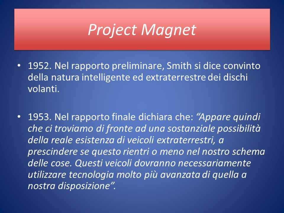 Project Magnet 1952.
