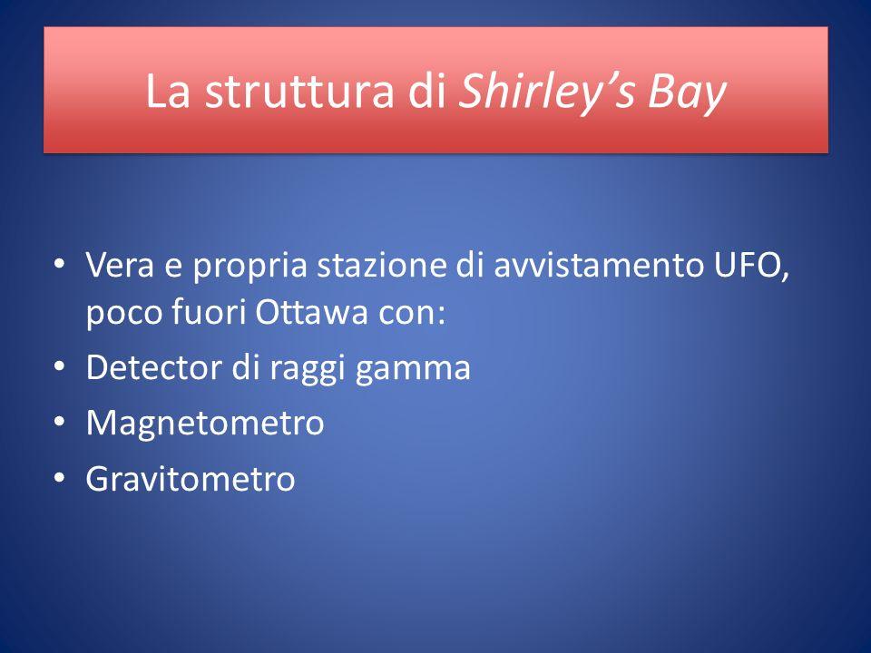 La struttura di Shirleys Bay Vera e propria stazione di avvistamento UFO, poco fuori Ottawa con: Detector di raggi gamma Magnetometro Gravitometro