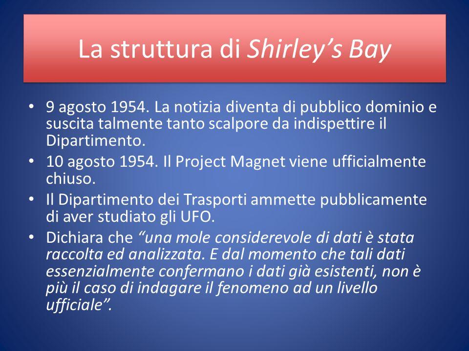 La struttura di Shirleys Bay 9 agosto 1954.