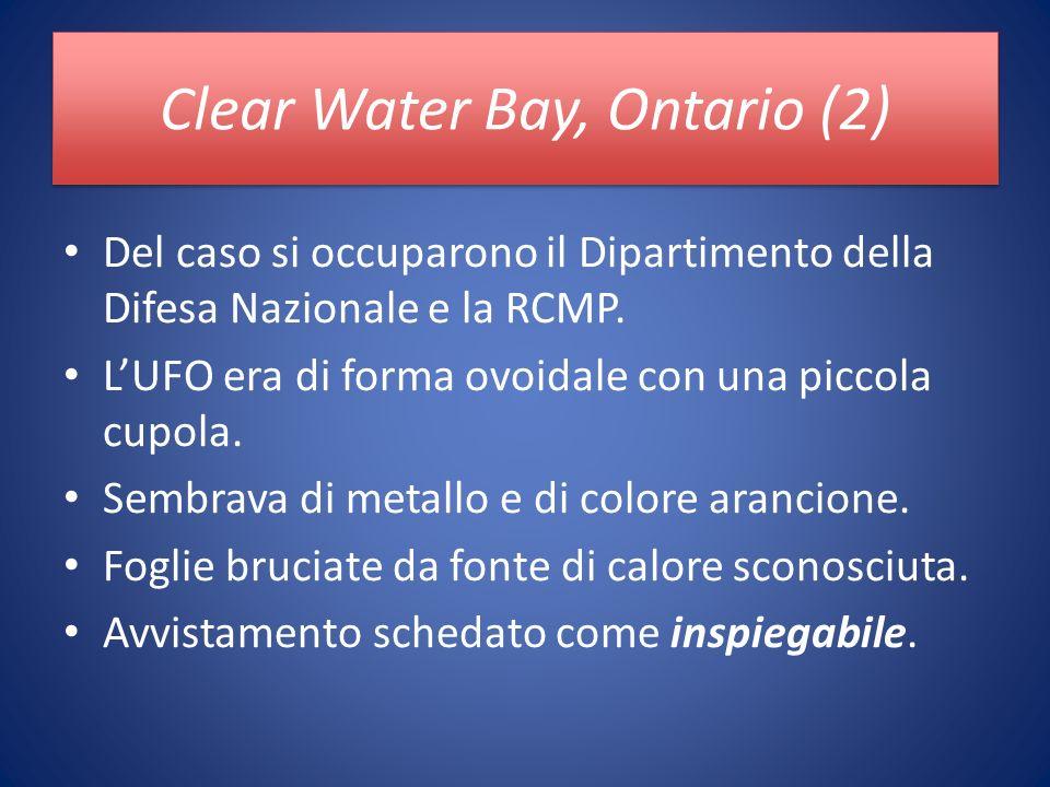Clear Water Bay, Ontario (2) Del caso si occuparono il Dipartimento della Difesa Nazionale e la RCMP.