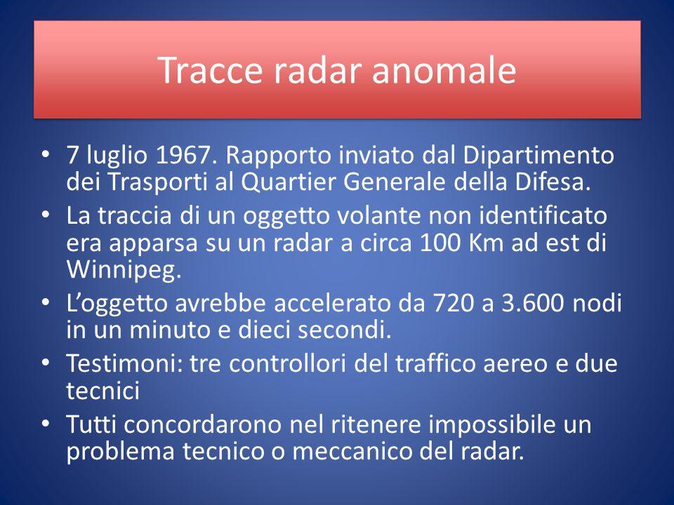Tracce radar anomale 7 luglio 1967.