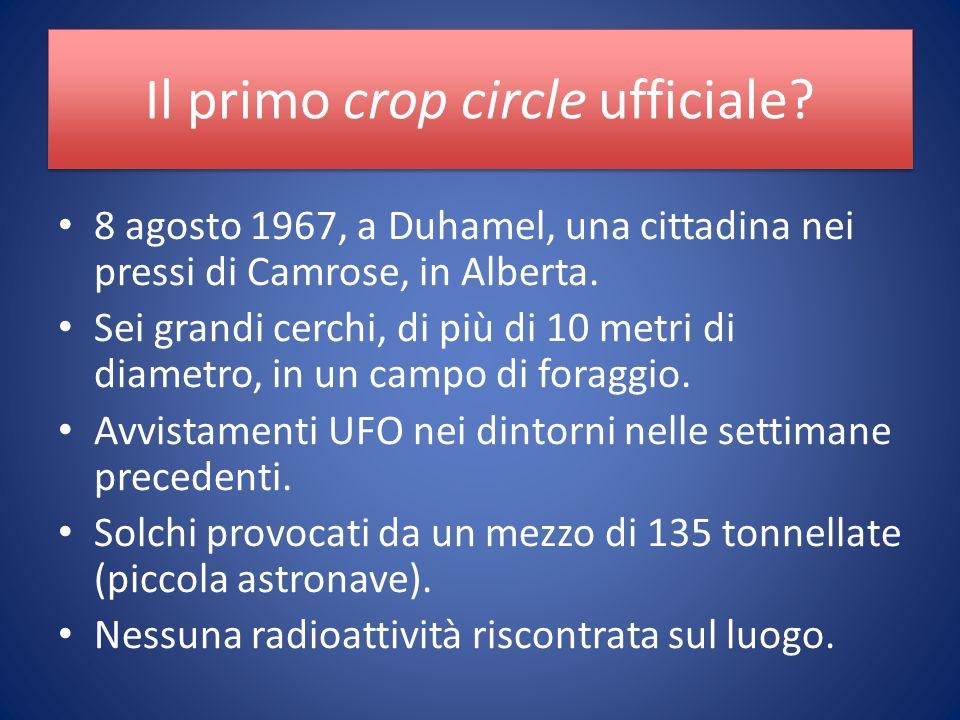 Il primo crop circle ufficiale.