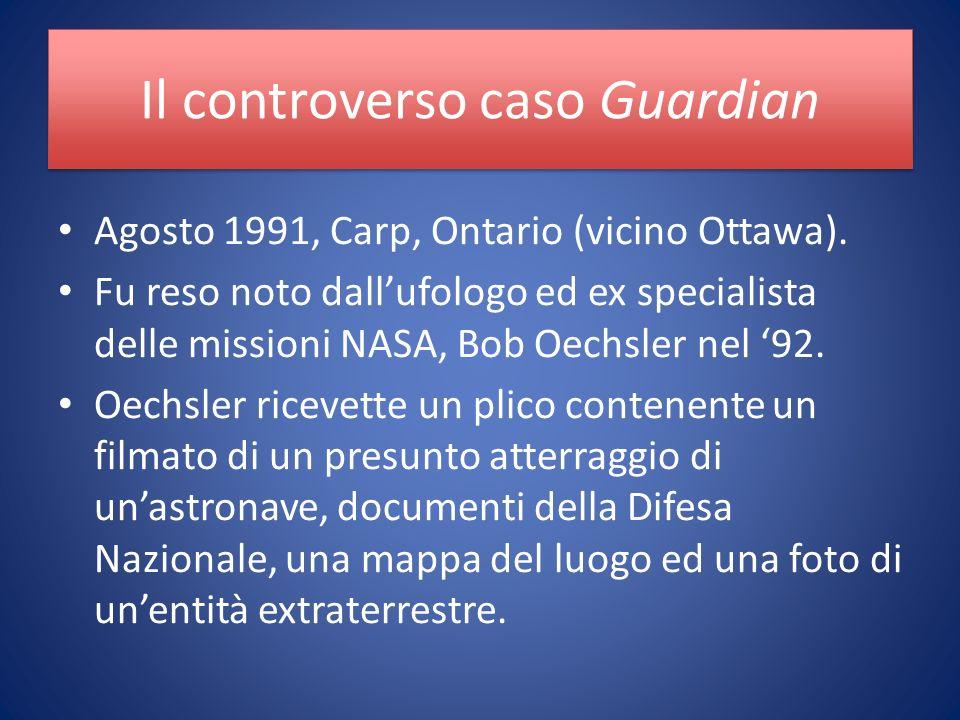 Il controverso caso Guardian Agosto 1991, Carp, Ontario (vicino Ottawa).