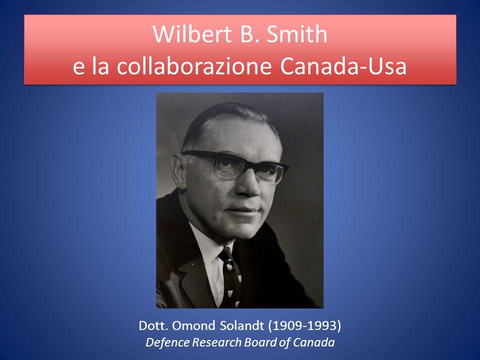 Wilbert B. Smith e la collaborazione Canada-Usa Dott.
