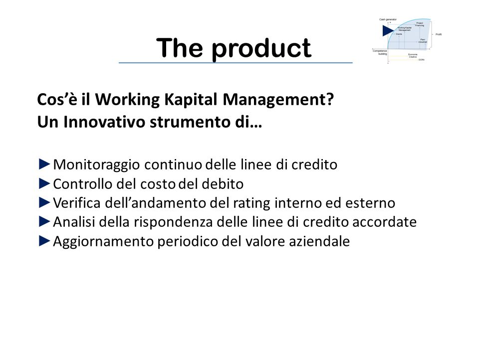 The product Cosè il Working Kapital Management.