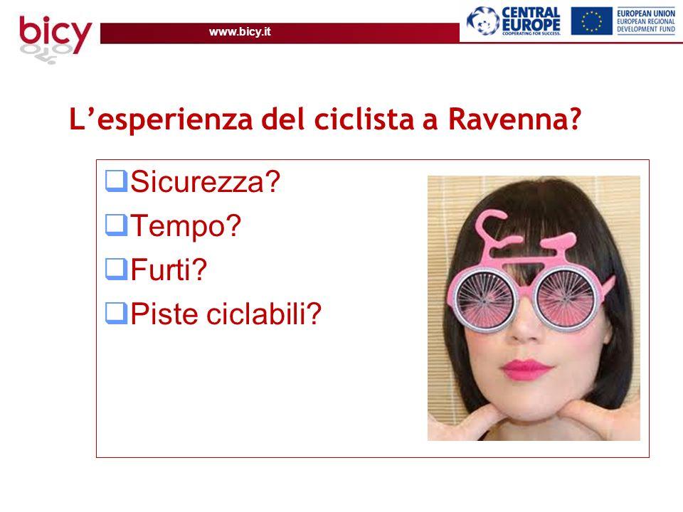 www.bicy.it Lesperienza del ciclista a Ravenna Sicurezza Tempo Furti Piste ciclabili