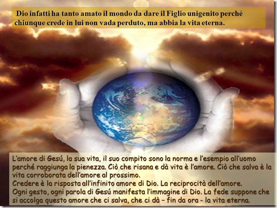 «Come Mosè innalzò il serpente nel deserto, così bisogna che sia innalzato il Figlio delluomo, perché chiunque crede in lui abbia la vita eterna. Per