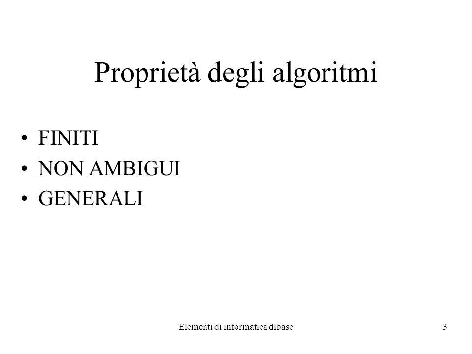 Elementi di informatica dibase4 Soluzione di ax 2 +bx+c=0 1.