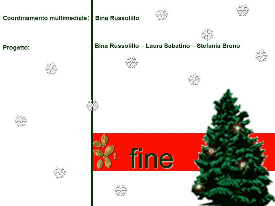 Coordinamento multimediale : Bina Russolillo Bina Russolillo – Laura Sabatino – Stefania Bruno fine Progetto: