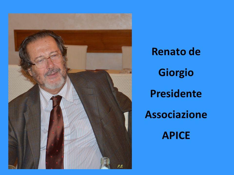 Renato de Giorgio Presidente Associazione APICE