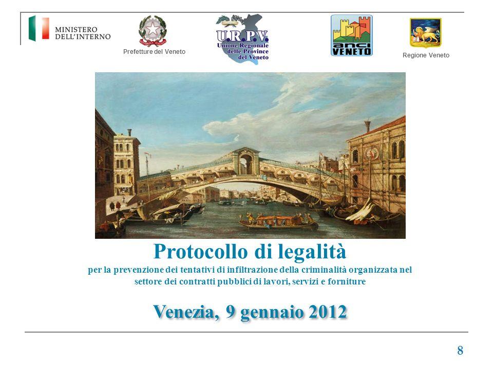 Protocollo di legalità per la prevenzione dei tentativi di infiltrazione della criminalità organizzata nel settore dei contratti pubblici di lavori, s