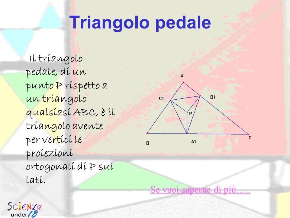 Triangolo Ortico Il triangolo ortico (quello rosso) è il triangolo i cui vertici sono costituiti dai piedi delle tre altezze.triangolo ortico