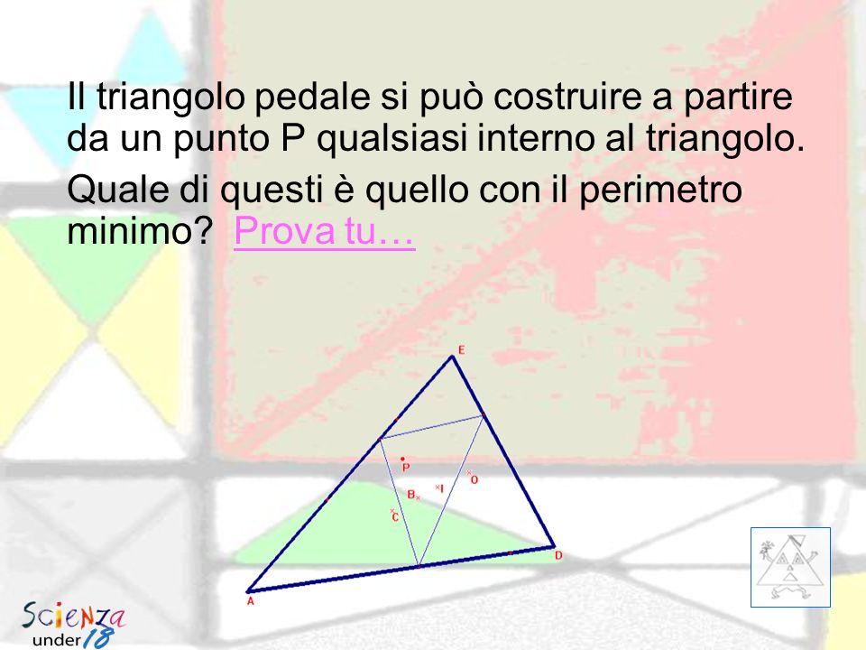 A partire dal triangolo ABC, posso costruire il pedale A 1 B 1 C 1, poi posso di nuovo fare il pedale A 2 B 2 C 2 e poi ancora il terzo pedale A 3 B 3