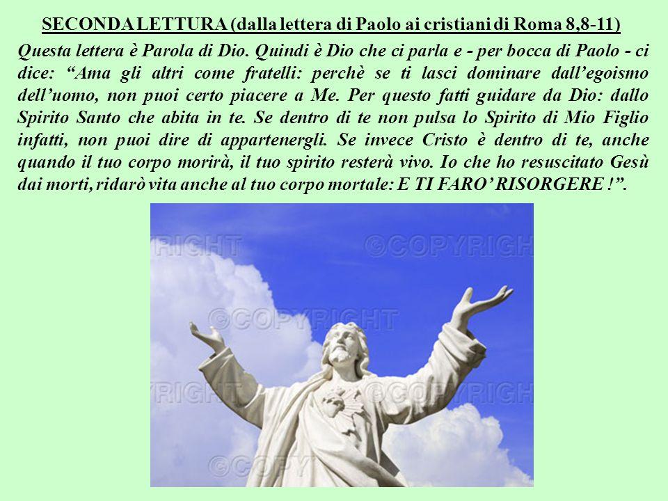 Sottofomdo musicale: VITA (Dalla-Morandi) Buona domenica da Antonio Di Lieto (www.bellanotizia.it) Ora che hai ascoltato la Mia Parola, rispondimi … Per approfondire premi qui F I N E