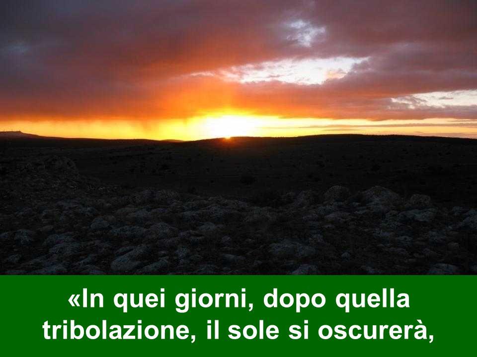 «In quei giorni, dopo quella tribolazione, il sole si oscurerà,