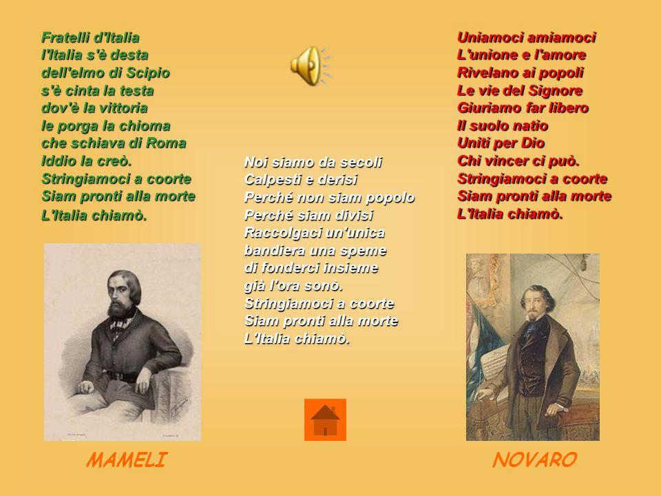 Fratelli d'Italia l'Italia s'è desta dell'elmo di Scipio s'è cinta la testa dov'è la vittoria le porga la chioma che schiava di Roma Iddio la creò. St