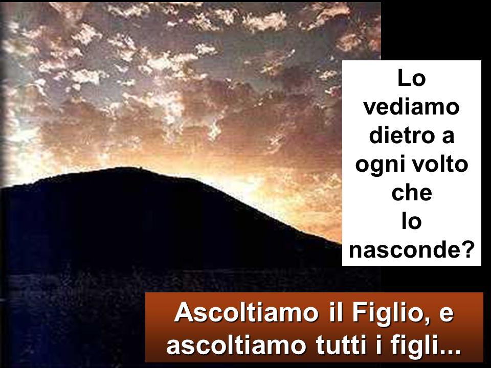 Venne una nube che li coprì con la sua ombra e dalla nube uscì una voce: «Questi è il Figlio mio, lamato: ascoltatelo!».