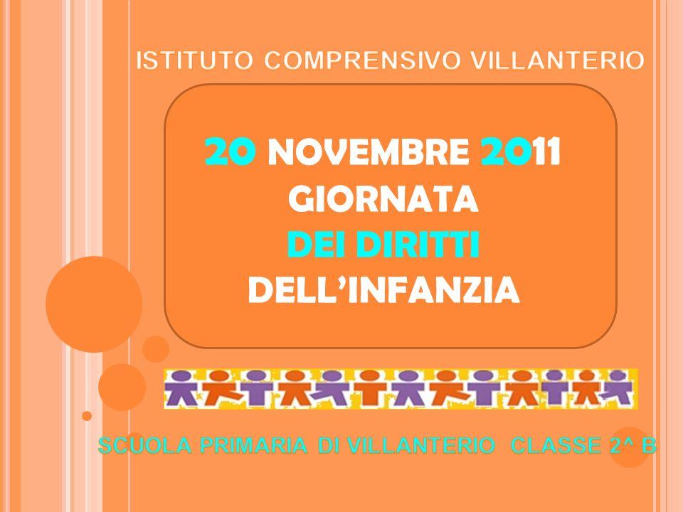 20 NOVEMBRE 2011 GIORNATA DEI DIRITTI DELLINFANZIA